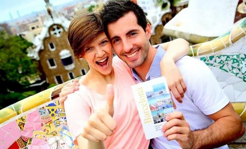 young married couple on their honeymoon funded by wedding loan