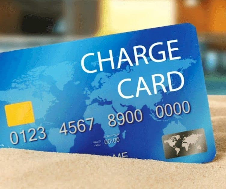 Charge card with high interest rate